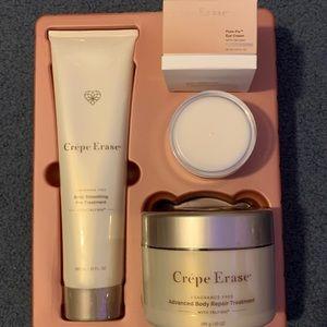 Crepe Erase unopened set, 10 oz treatments w/eye